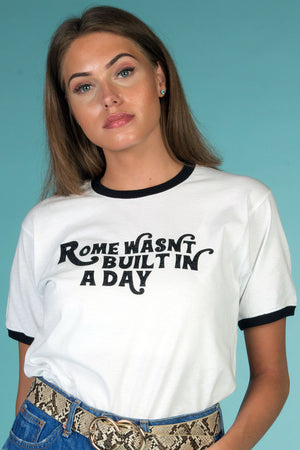 rome wasn't built in a day tee image 1