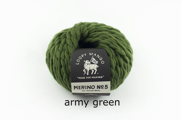 Merino No. 5 - Army Green