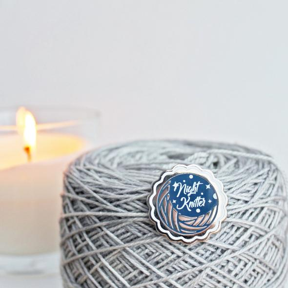Night Knitter Pin
