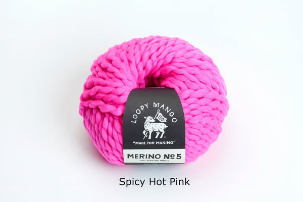 Merino No. 5 - Spicy Hot Pink