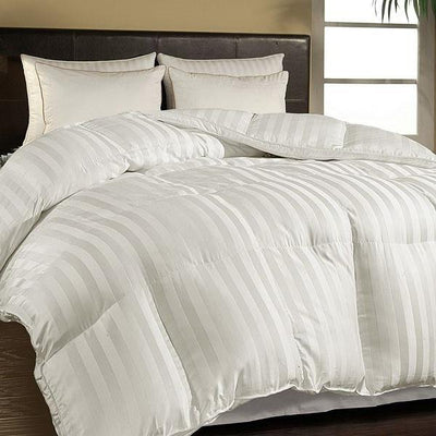 All Year Warm 700 Fill Power Striped Down Comforter Comforters Down Cotton Cal King