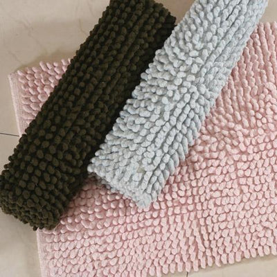 Extra Soft & Absorbent Chenille Shaggy Bathroom for Tub, Shower, and Bath Room Bath Rug Down Cotton