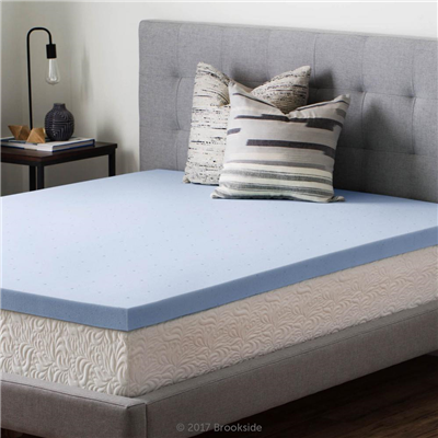Gel Memory Foam Mattress Topper - 3 Inches to 4 Inches Down Cotton
