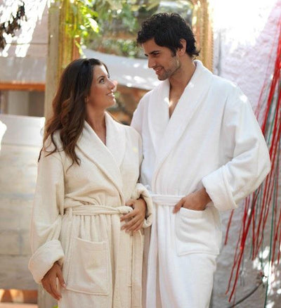 Hotel & Spa Unisex Terry Robes - 100% Premium Long-Staple Combed Cotton Bath Robe Down Cotton