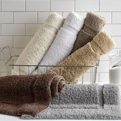 Premium 100% Combed Cotton with Non-Slip Backing, Soft, Plush, Fast Drying and Absorbent - 2 Piece Bath Rug Bath Rug Down Cotton