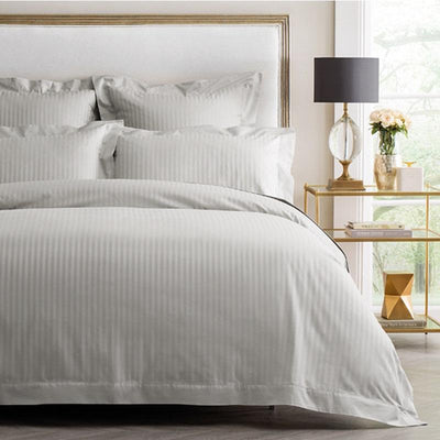 Premium Giza - 100% Egyptian Cotton Striped Duvet Cover Set Egyptian Cotton Duvet Premium Collection