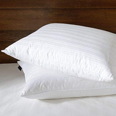 Set of 2 Goose Feather Down Pillows with Premium 100% Cotton Shell Pillows Down Cotton