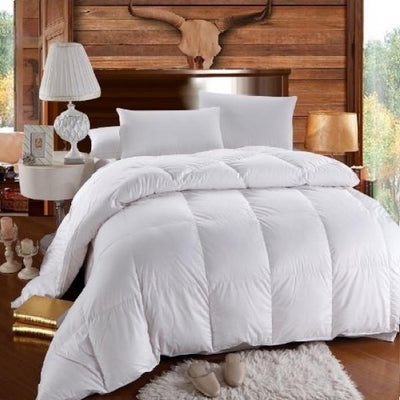 Warm and Fluffy 650 Fill Power Down Comforter Comforters Down Cotton Cal King
