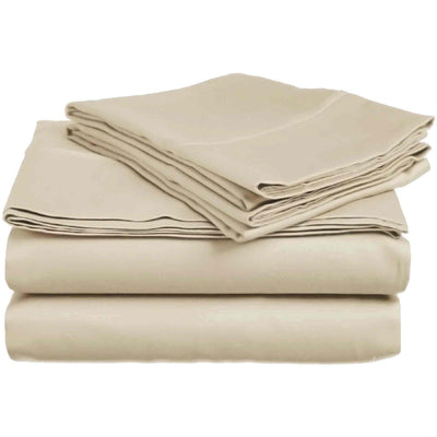 Wrinkle Free Brushed Performance Sheets Microfiber Sheets Down Cotton Twin Beige