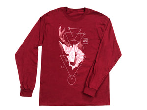 wolf-den-wares - DeerWolf Long Sleeve Crew Neck Tee - Wolf Den Wares - Long Sleeve