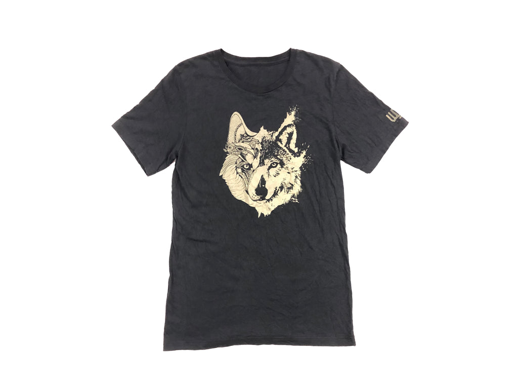 wolf-den-wares - Two Wolves Tee (Vintage Black) - Wolf Den Wares -
