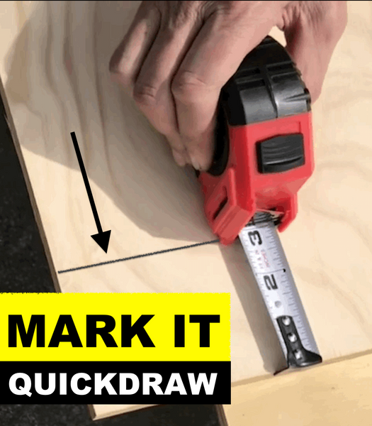 Save $3000 a year, using the QuickDraw Marking Tape Measure