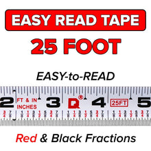 EZ-READ 25' Foot QUICKDRAW PRO Marking Tape Measure