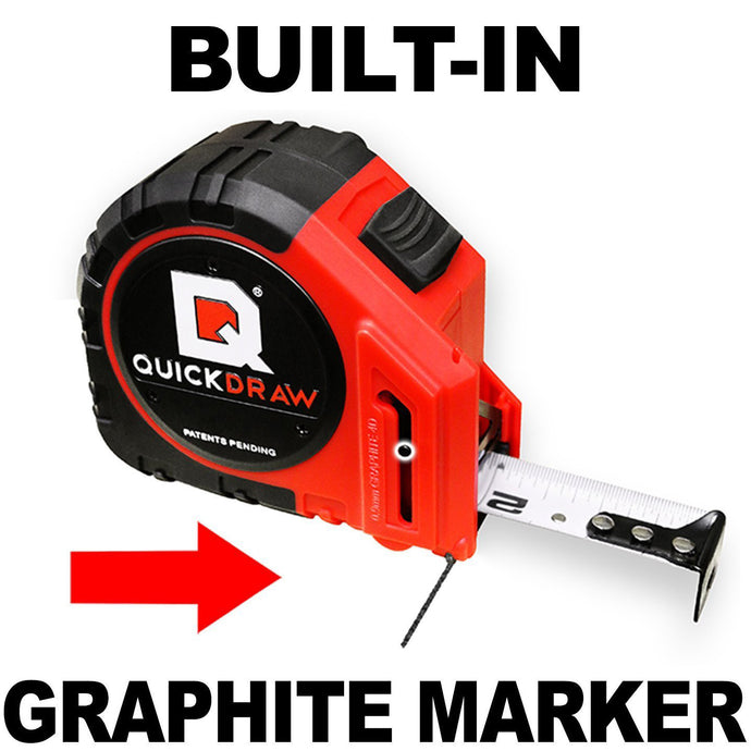 "SELF-MARKING QUICKDRAW tape measure makes 2000+ marks (1/4"") per load. Reloading takes only 10 seconds, and FYI: Your tape comes with 10 Refills that will make over 20,000 1/4"