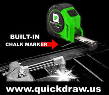 QuickDraw MetalMARK 25'- Marking Tape Measure - Contractor Grade (Green)