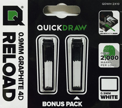 White Graphite Refills - 0.9mm (fits all Quickdraw tapes)