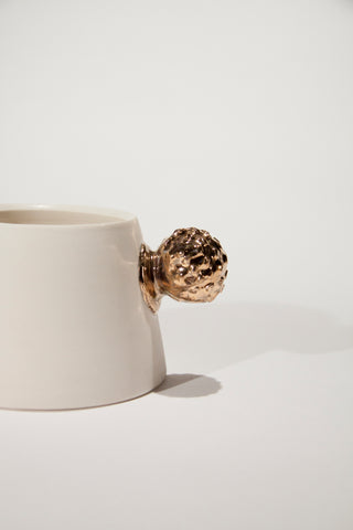 Mountain Cups (White with gold knob)
