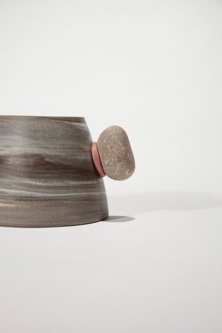 Mountain Cups (Grey with real stone handle)