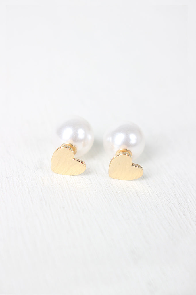 Pearl Double Sided Earring Set