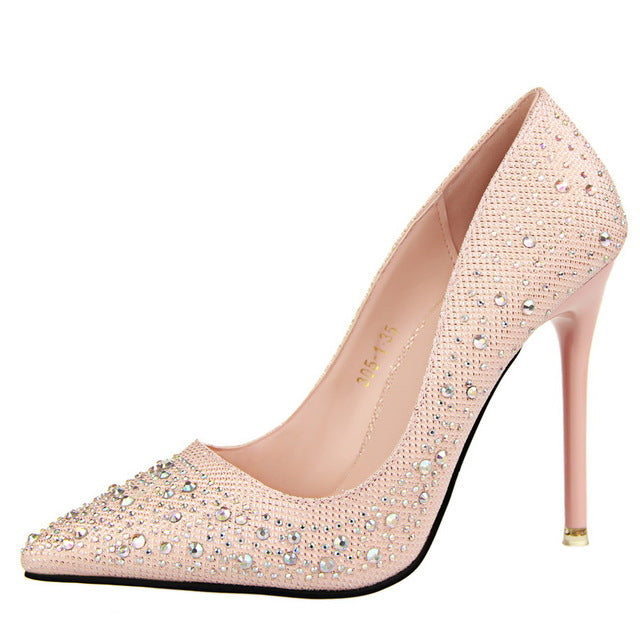 Sexy Luxury Rhinestone high heel shoes
