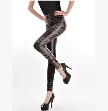 Women Sexy Skinny Faux Leather High Waist Leggings