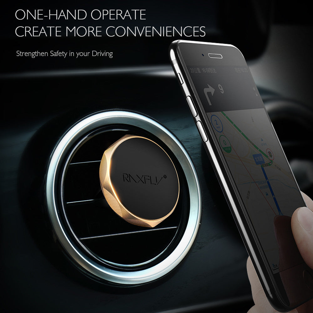 360 Degree Universal Car Holder Magnetic Air Vent Mount Smartphone Dock For iPhone