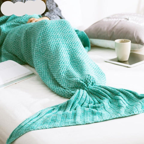 Warm knitted mermaid tail blanket For the real Chic