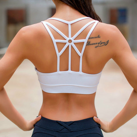 Open back Hollow high performance  Yoga Sports Bra