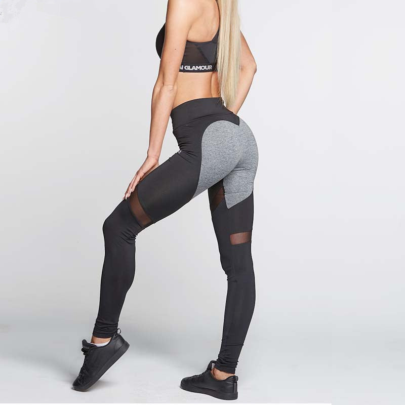 Heart Pattern High Elastic Fitness Leggings