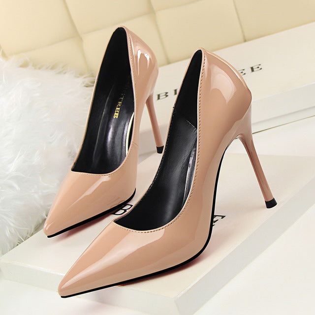 Pointed Toe Patent Leather Stilettos / More Colors