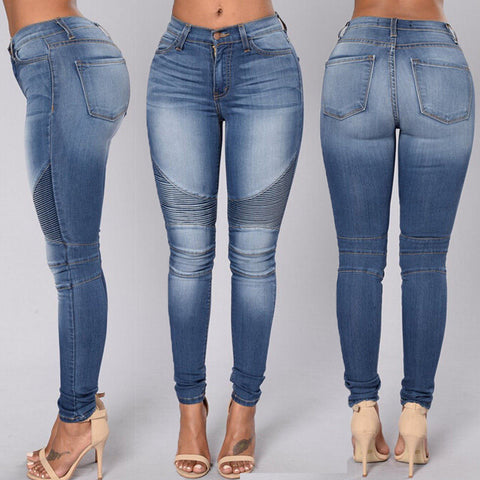 Sexy Denim Destroyed Frayed High Waisted Jeans