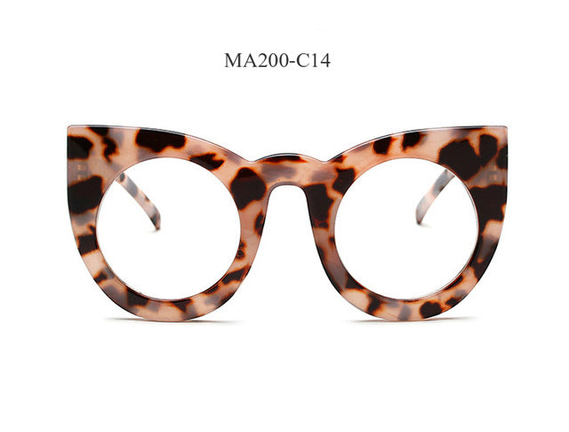 Vintage Round Luxury Cat Eye Sunglasses