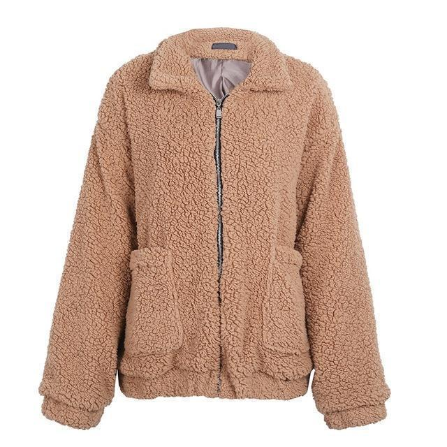 So Cozy Faux lambswool oversized jacket coat