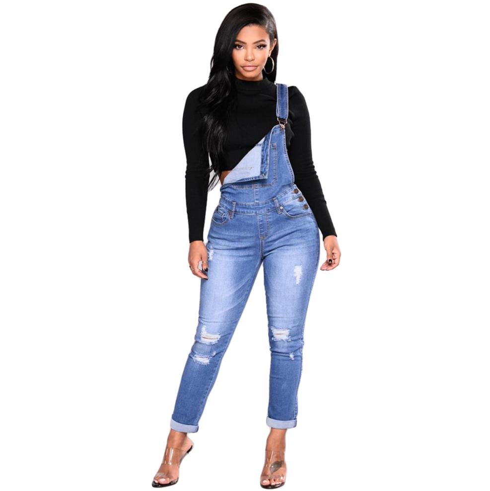 3b0195a77d Ripped Denim Overalls with stretch  Ripped Denim Overalls with stretch ...