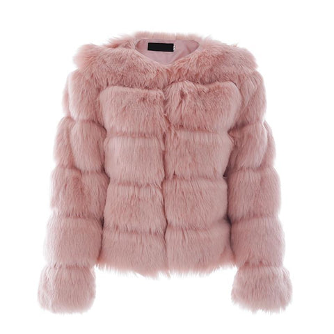 Vintage fluffy faux fur coat outerwear