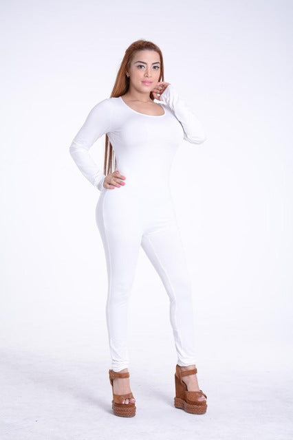 Fashionable  Womens Long Sleeve Round neck Bodysuit