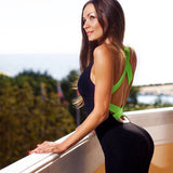 One-Piece  Backless Fitness Bandage Yoga Jumpsuit