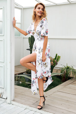 sexy  long  Boho Beach Vintage Dress
