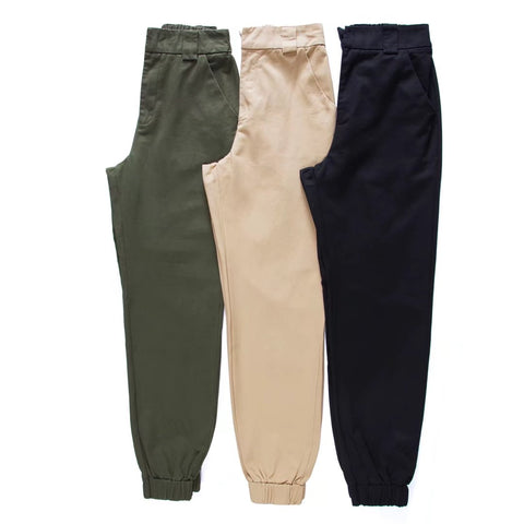High waist casual Army military cargo pants