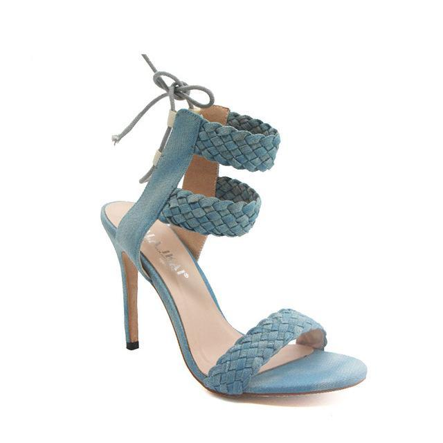 Double Ankle Strap open Toe Womens High Heels