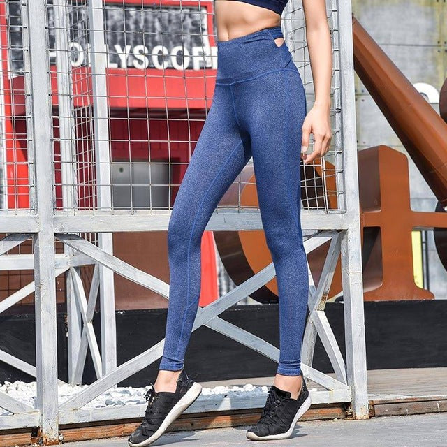 Sexy Yoga Backed Criss Cross High Waist Sports Leggings