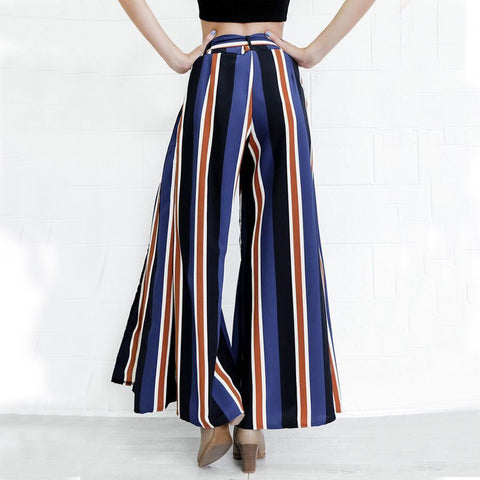 Striped Wide Leg High waist loose fitting Pants