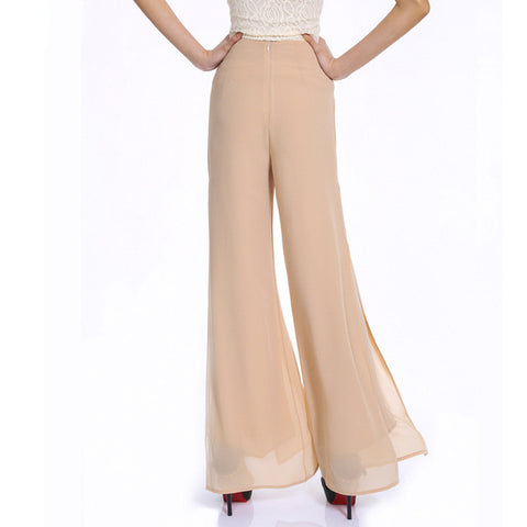 Sassy High waist Spring / Summer Casual Wide leg pants