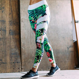 Floral Print High Waist Fitness Leggings