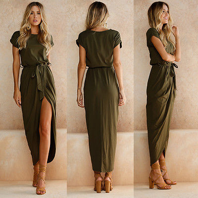 Long Women's Asymmetrical Dress