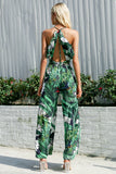 Vacation Sassy Leaf print sexy Boho jumpsuit