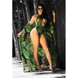 Floral Printed One Piece Swimsuit / With Cover-Up Set