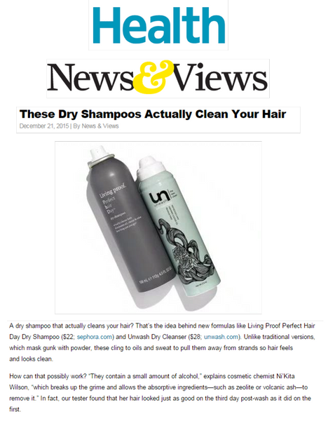 Health Magazine Dry Shampoo that Actually Cleans your Hair Unwash Press