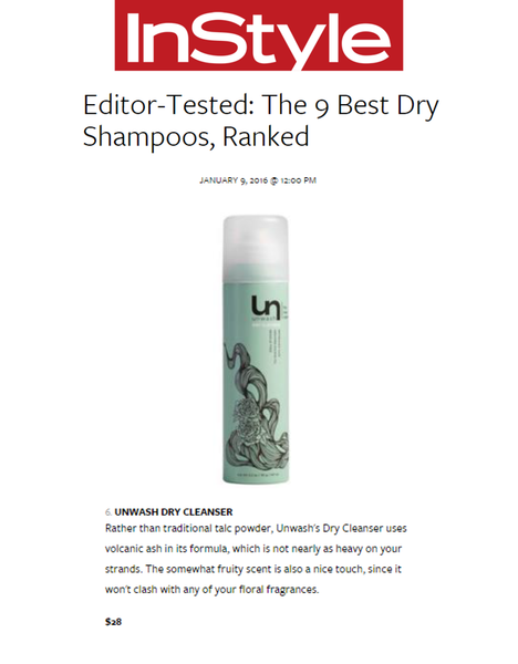 InStyle Editors Tested the Best Dry Shampoos Ranked Unwash