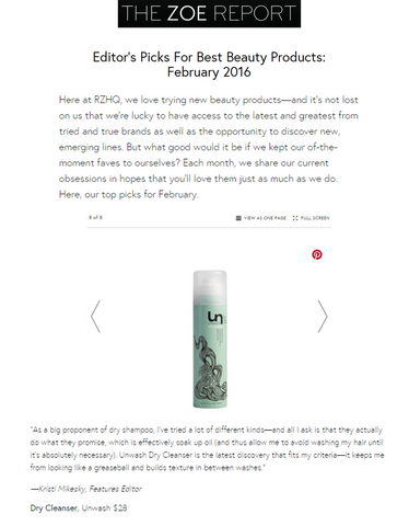 the zoe report unwash dry shampoo